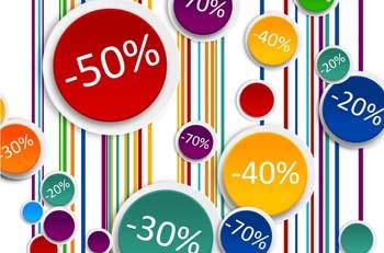 Scondi del 20% 30% 40% 50%